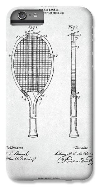 Tennis Racket Patent 1907 IPhone 6 Plus Case by Taylan Apukovska