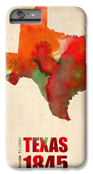 Texas Watercolor Map IPhone 6 Plus Case by Naxart Studio