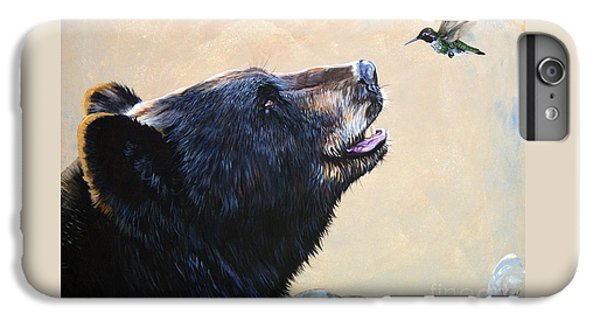 Mammals iPhone 6 Plus Case - The Bear And The Hummingbird by J W Baker