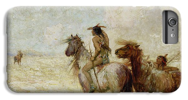 The Bison Hunters IPhone 6 Plus Case by Nathaniel Hughes John Baird