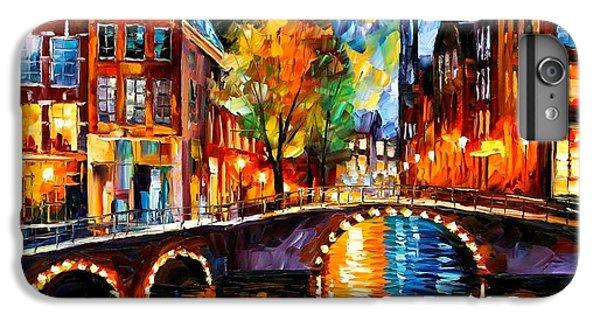 Afremov iPhone 6 Plus Case - The Bridges Of Amsterdam by Leonid Afremov