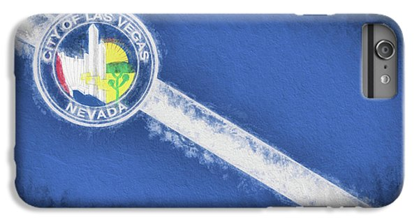 IPhone 6 Plus Case featuring the digital art The City Flag Of Las Vegas by JC Findley