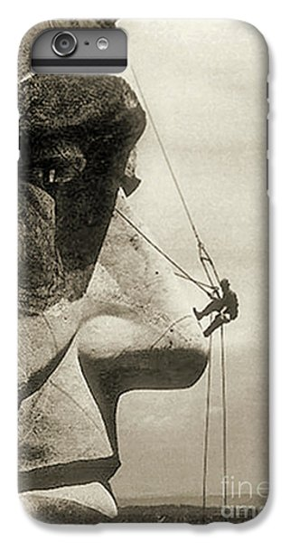 The Construction Of The Mount Rushmore National Memorial, Detail Of Abraham Lincoln,1928  IPhone 6 Plus Case