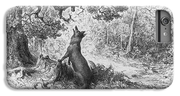 The Crow And The Fox IPhone 6 Plus Case by Gustave Dore