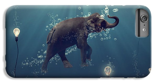 Blue iPhone 6 Plus Case - The Dreamer by Martine Roch