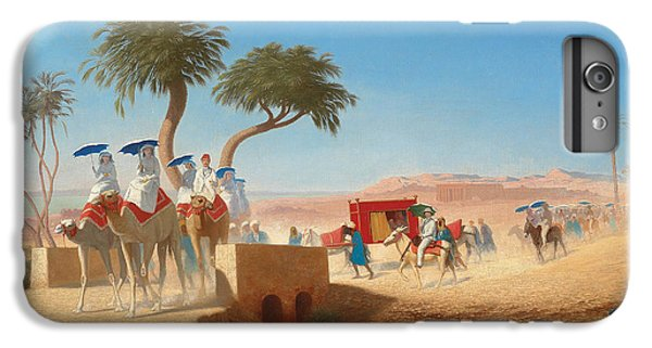 Barren iPhone 6 Plus Case - The Empress Eugenie Visiting The Pyramids by Charles Theodore Frere