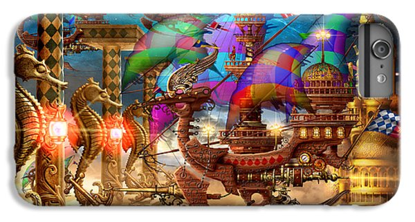 Space Ships iPhone 6 Plus Case - The Fleet Has Arrived by Ciro Marchetti