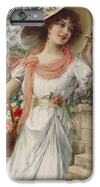 Garden Snake iPhone 6 Plus Case - The Flower Girl by Emile Vernon