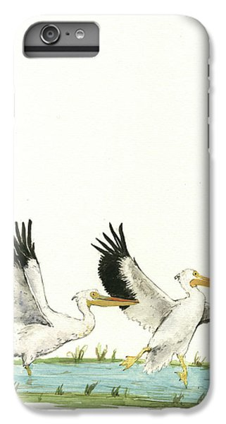 The Fox And The Pelicans IPhone 6 Plus Case by Juan Bosco