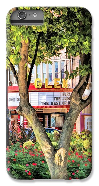 IPhone 6 Plus Case featuring the painting The Glen Movie Theater by Christopher Arndt