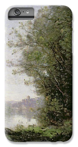 The Goatherd Beside The Water  IPhone 6 Plus Case by Jean Baptiste Camille Corot