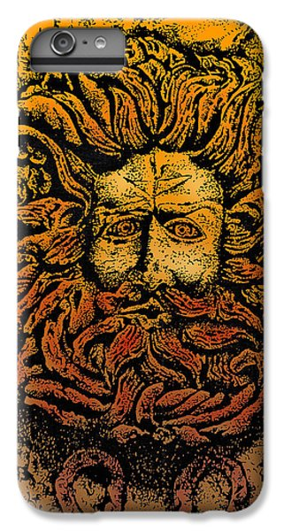 The Gorgon Man Celtic Snake Head IPhone 6 Plus Case by Larry Butterworth