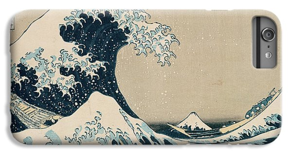 Boat iPhone 6 Plus Case - The Great Wave Of Kanagawa by Hokusai