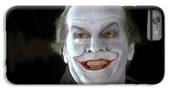 Jack Nicholson iPhone 6 Plus Case - The Joker by Paul Tagliamonte