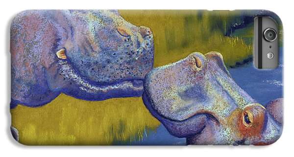 Africa iPhone 6 Plus Case - The Kiss - Hippos by Tracy L Teeter