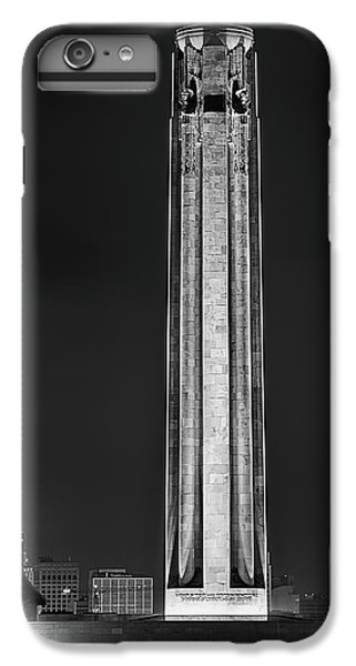 IPhone 6 Plus Case featuring the photograph The Liberty Memorial Black And White by JC Findley