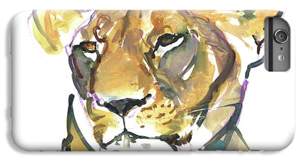 Lion Head iPhone 6 Plus Case - The Lioness by Mark Adlington