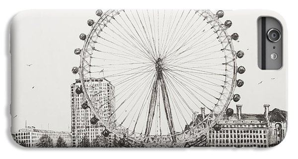 London Eye iPhone 6 Plus Case - The London Eye by Vincent Alexander Booth