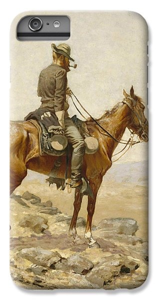 Horse iPhone 6 Plus Case - The Lookout by Frederic Remington