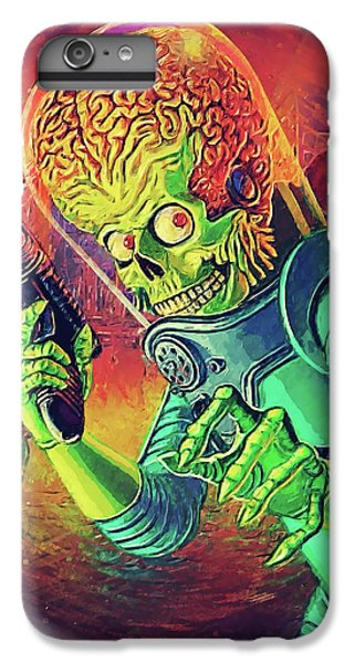 The Martian - Mars Attacks IPhone 6 Plus Case by Taylan Apukovska