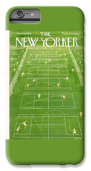 Tennis iPhone 6 Plus Case - The New Yorker Cover - June 25th, 1960 by Anatol Kovarsky