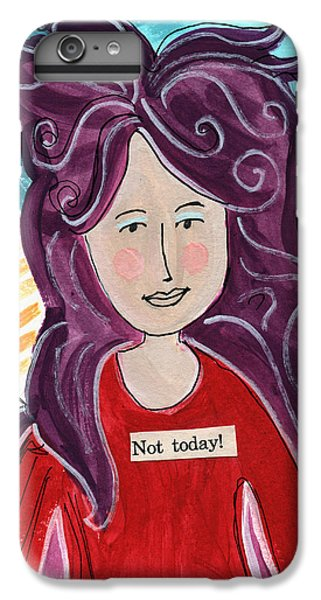 Fairy iPhone 6 Plus Case - The Not Today Fairy- Art By Linda Woods by Linda Woods