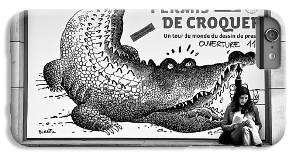 Crocodile iPhone 6 Plus Case - The Pen Is Mightier Than... by Dave Bowman