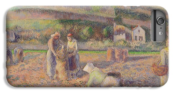The Potato Harvest IPhone 6 Plus Case by Camille Pissarro