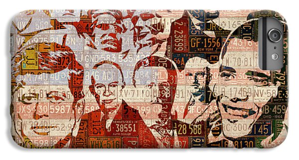 The Presidents Past Recycled Vintage License Plate Art Collage IPhone 6 Plus Case by Design Turnpike