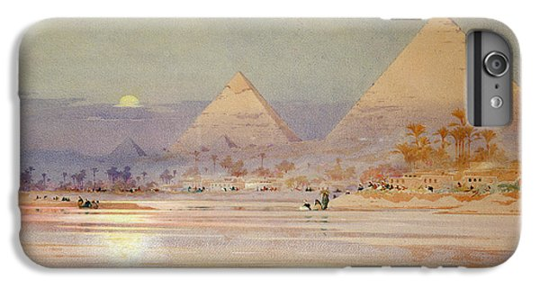 Desert iPhone 6 Plus Case - The Pyramids At Dusk by Augustus Osborne Lamplough
