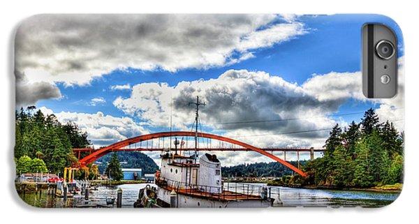 The Rainbow Bridge - Laconner Washington IPhone 6 Plus Case by David Patterson