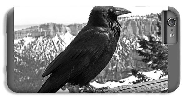 The Raven - Black And White IPhone 6 Plus Case by Rona Black