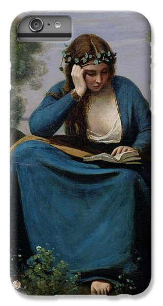 The Reader Crowned With Flowers IPhone 6 Plus Case by Jean Baptiste Camille Corot