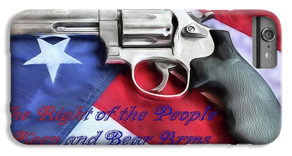 IPhone 6 Plus Case featuring the digital art The Second Amendment by JC Findley