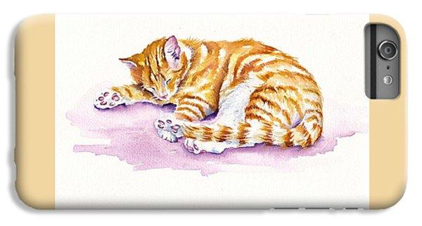 Cat iPhone 6 Plus Case - The Sleepy Kitten by Debra Hall