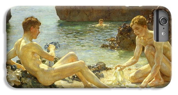 Nudes iPhone 6 Plus Case - The Sun Bathers by Henry Scott Tuke