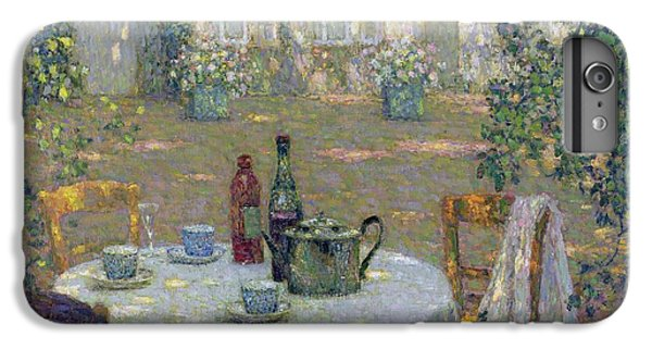 Garden Snake iPhone 6 Plus Case - The Table In The Sun In The Garden by Henri Le Sidaner