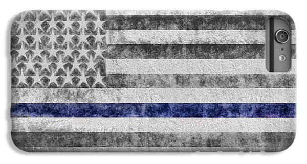 IPhone 6 Plus Case featuring the digital art The Thin Blue Line American Flag by JC Findley