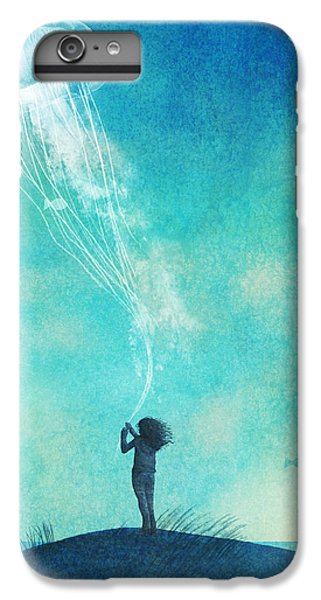 Blue iPhone 6 Plus Case - The Thing About Jellyfish by Eric Fan