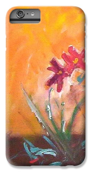 IPhone 6 Plus Case featuring the painting The Three Daisies by Winsome Gunning