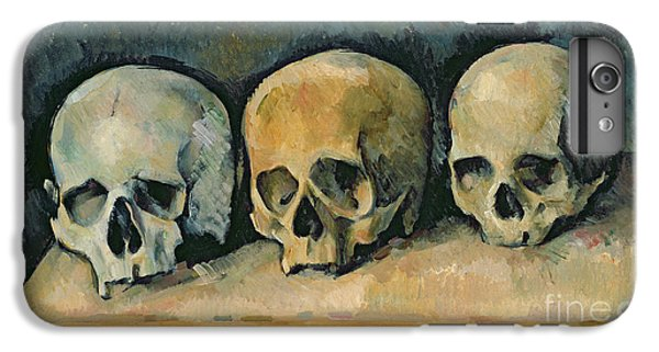Still Life iPhone 6 Plus Case - The Three Skulls by Paul Cezanne