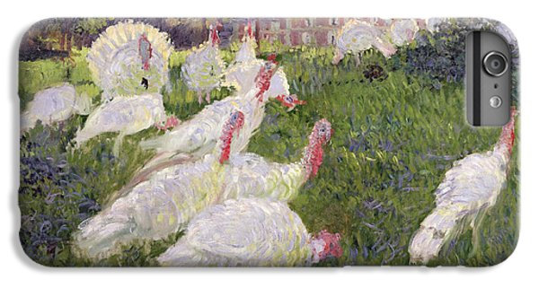 The Turkeys At The Chateau De Rottembourg IPhone 6 Plus Case by Claude Monet