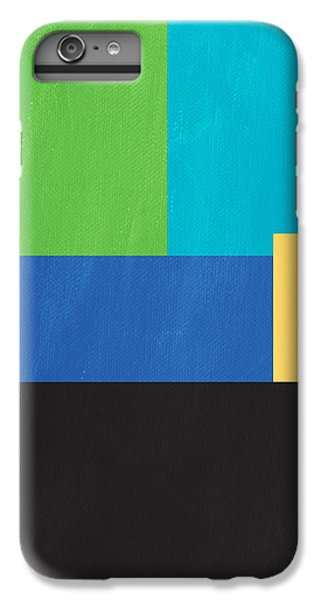 Green iPhone 6 Plus Case - The View From Here- Modern Abstract by Linda Woods