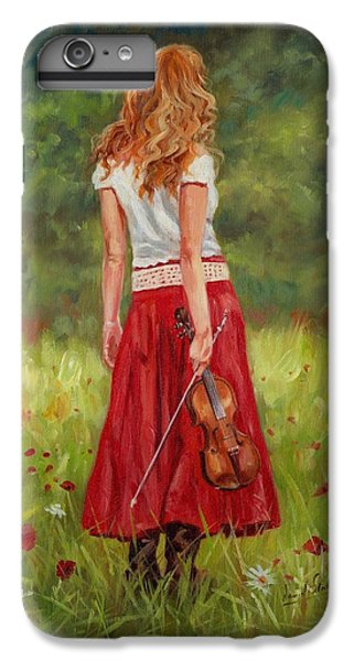 Music iPhone 6 Plus Case - The Violinist by David Stribbling