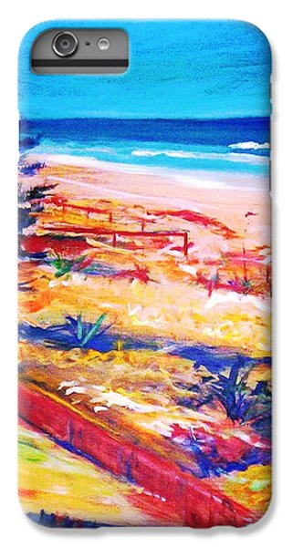 IPhone 6 Plus Case featuring the painting The Winter Dunes by Winsome Gunning