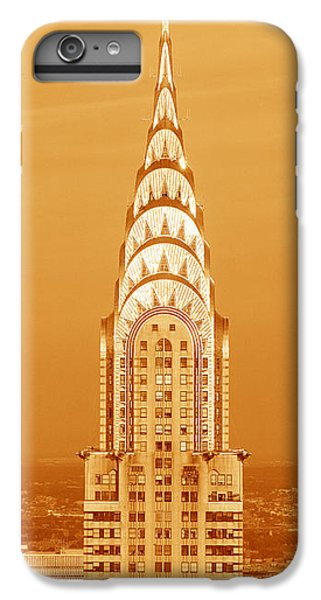 Building iPhone 6 Plus Case - Chrysler Building At Sunset by Panoramic Images