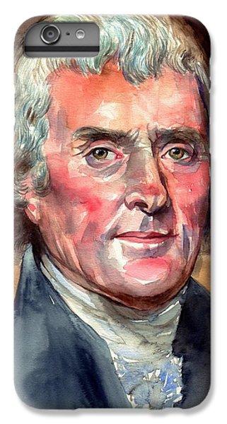 Thomas Jefferson iPhone 6 Plus Case - Thomas Jefferson Portrait by Suzann's Art