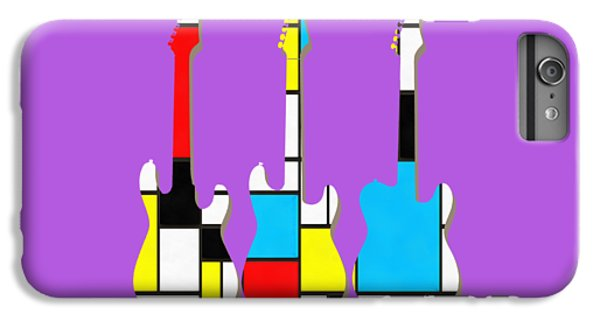 Guitar iPhone 6 Plus Case - Three Guitars Modern Tee by Edward Fielding