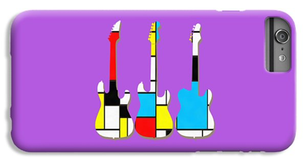 Three Guitars Modern Tee IPhone 6 Plus Case by Edward Fielding