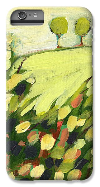 Green iPhone 6 Plus Case - Three Trees On A Hill by Jennifer Lommers